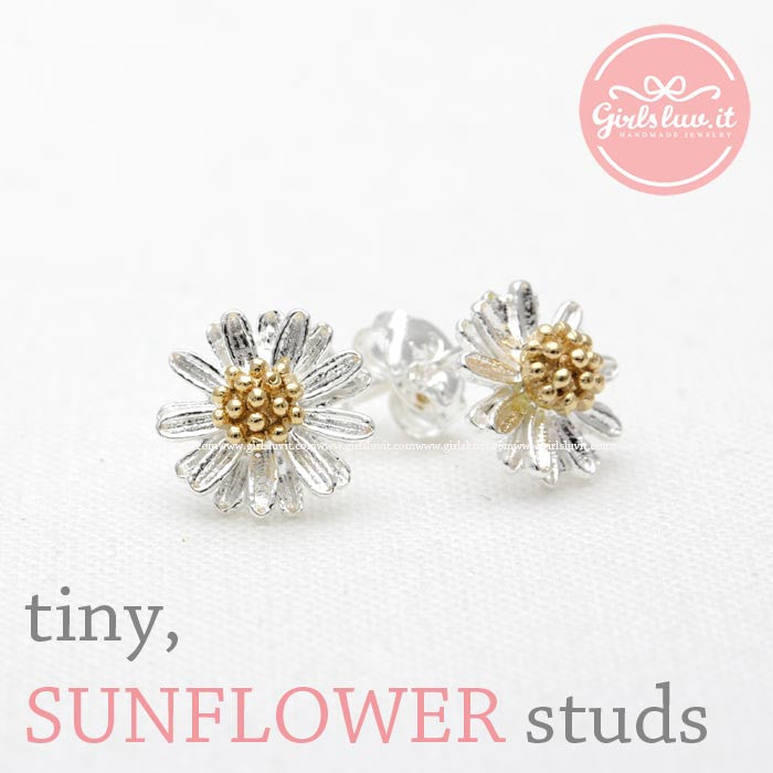 flower earrings, dandelion - girlsluv.it