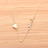 tiny heart and love you necklace - girlsluv.it  - 2