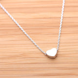 heart necklace, brushed - girlsluv.it  - 2