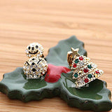 tree and snowman earrings - girlsluv.it  - 1