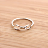 sterling silver, twisted infinity ring - girlsluv.it  - 3