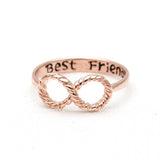 best friends infinity ring in pinkgold - girlsluv.it  - 4