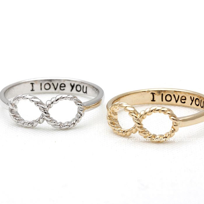 infinity i love you ring, twisted - girlsluv.it  - 1