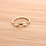 sterling silver, twisted infinity ring - girlsluv.it  - 2