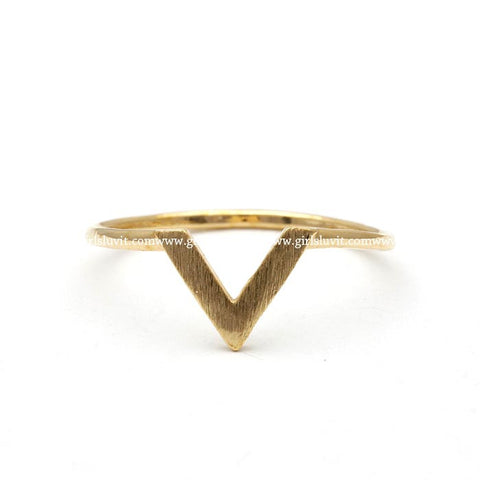 V chevron ring, 3 colors - girlsluv.it