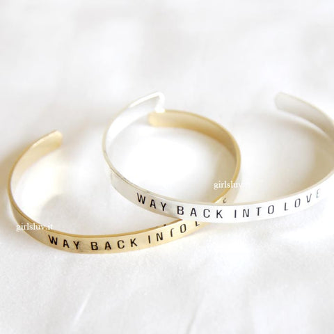 way back into love bracelet, adustable - girlsluv.it