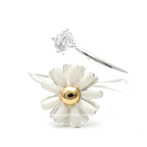 white daisy ring - girlsluv.it