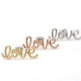 LOVE wired stud earrings, 3 colors - girlsluv.it  - 1