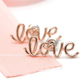 LOVE wired stud earrings, 3 colors - girlsluv.it  - 3