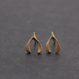 WISHBONE stud earrings, 2 colors - girlsluv.it  - 2