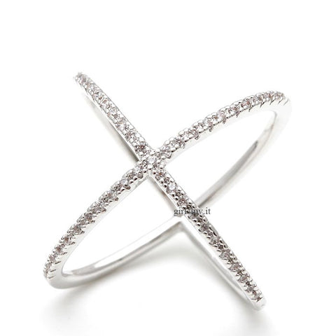 x crossed ring, infinity loop ring - girlsluv.it