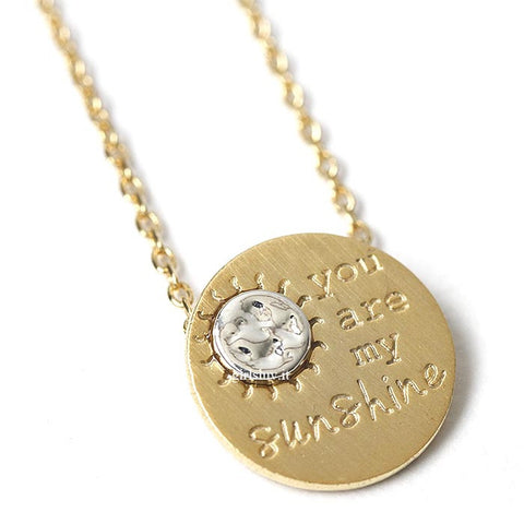 you are my sunshine necklace - girlsluv.it