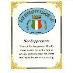 Hot Soppressata - 7oz. Chub