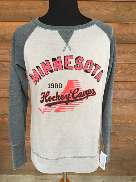 Women's Raglan Heather Crew