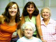 Four Generations of Women in North Carolina and Southern Sweet Tea