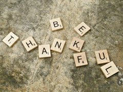 Be Thankful Scrabble Pieces