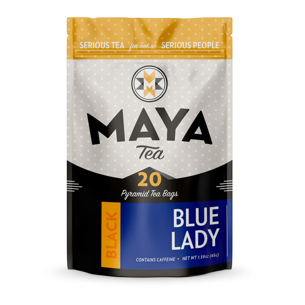 Citrus and Passionfruit flavors make up this great loose leaf tea, Blue Lady Black, named for the ghost.