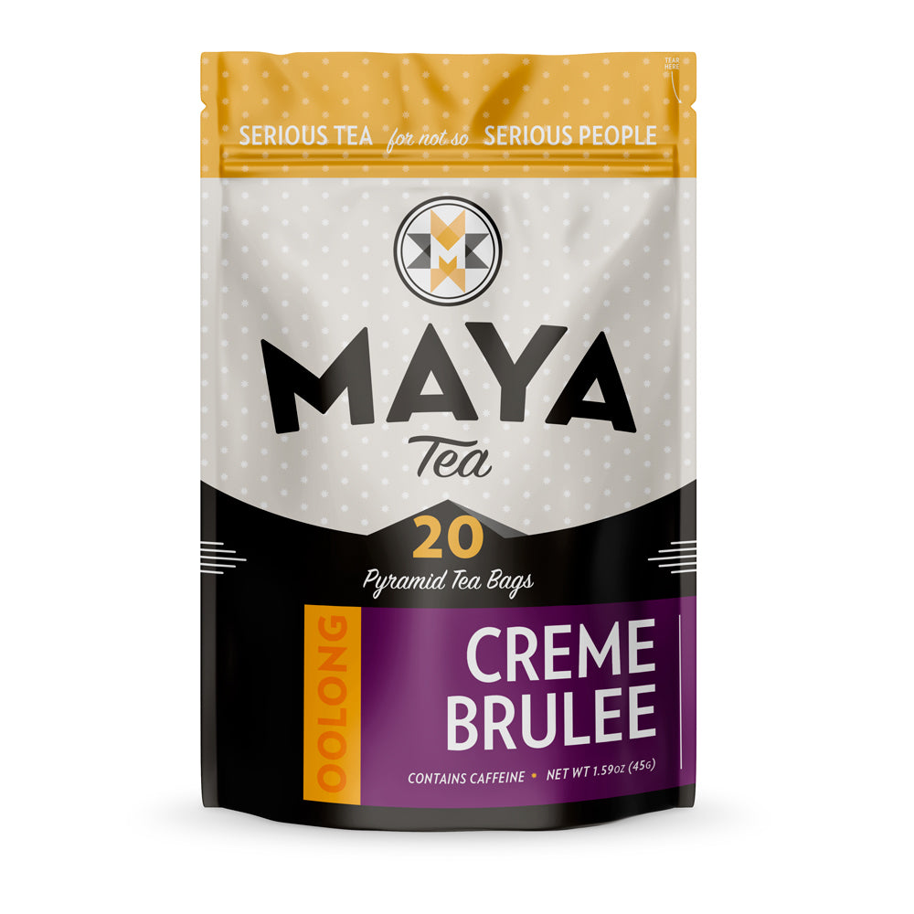 Creme Brulee Oolong Tea Bags Pouch