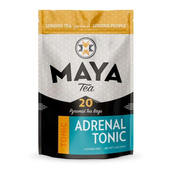 Reduce adrenal fatigue with this ginseng, licorice, tulsi and yam root blend.