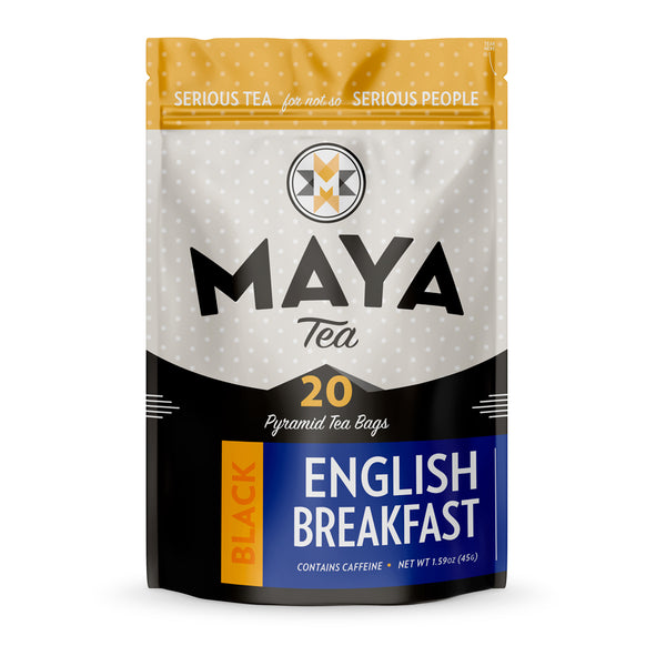 English Breakfast black tea is a blend of black teas from Sri Lanka, India and China, a great strong breakfast blend.