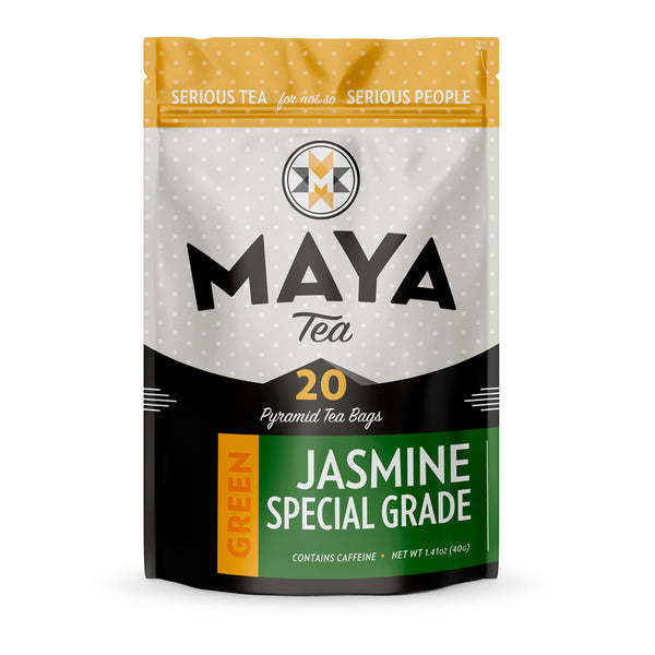 This special grade Jasmine green tea comes from China, and is a wonderful floral loose leaf tea.
