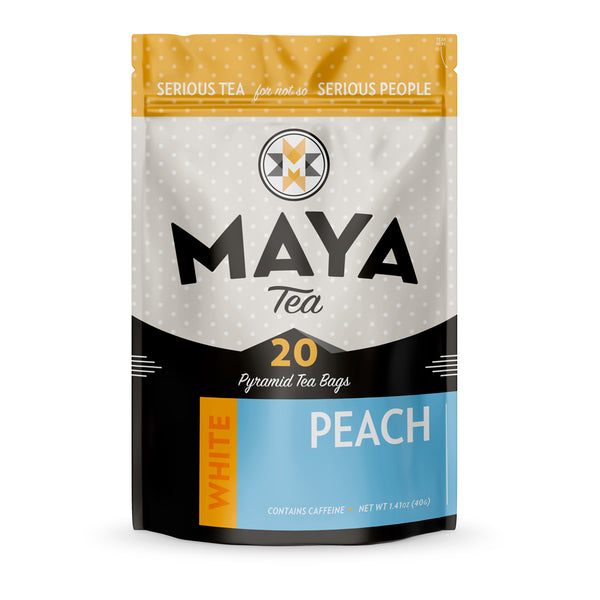 Sweet and ripe summer peaches make this a fruity white tea, with an origin in China.