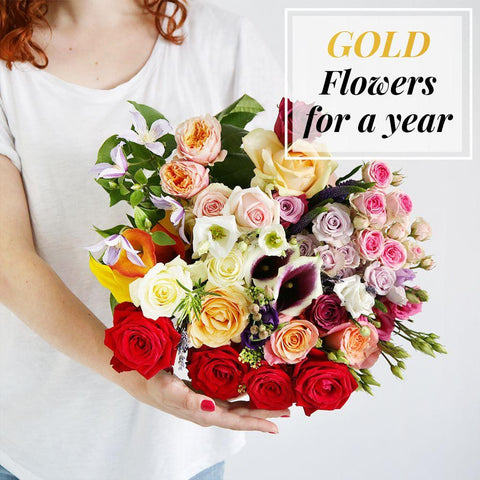Gold Flowers For a Year