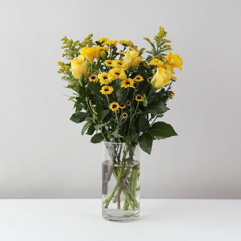 The Signature Zing Bouquet, a mix of yellow flowers