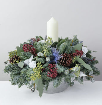 Luxury White Candle Arrangement