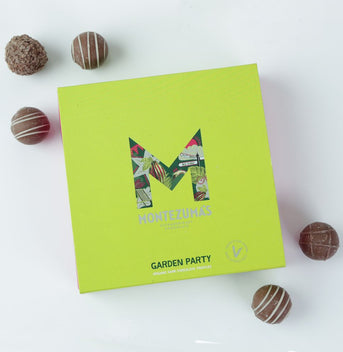 Montezuma 'Garden Party' vegan and organic truffle