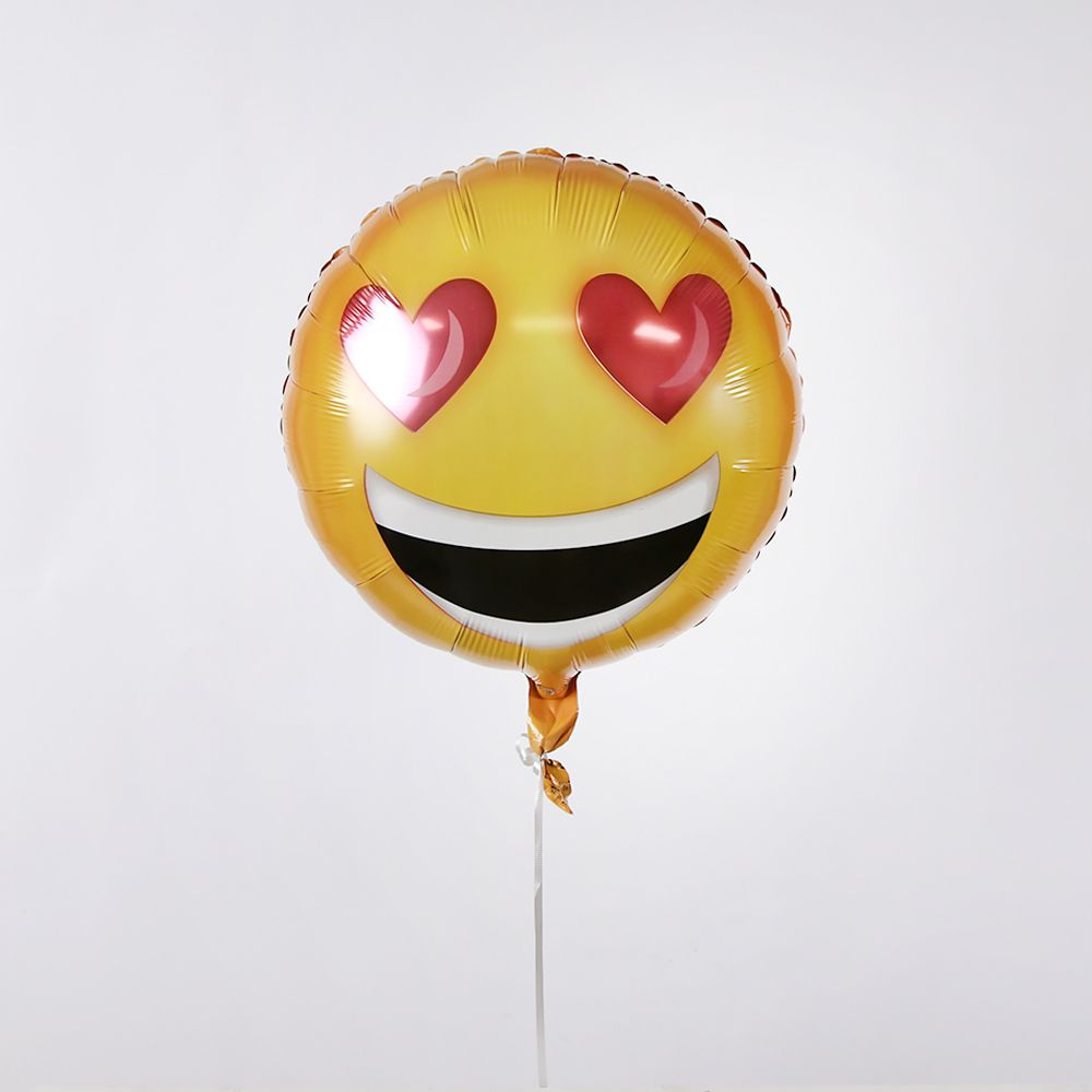 Valentines Emoji Heart Eyes Balloon