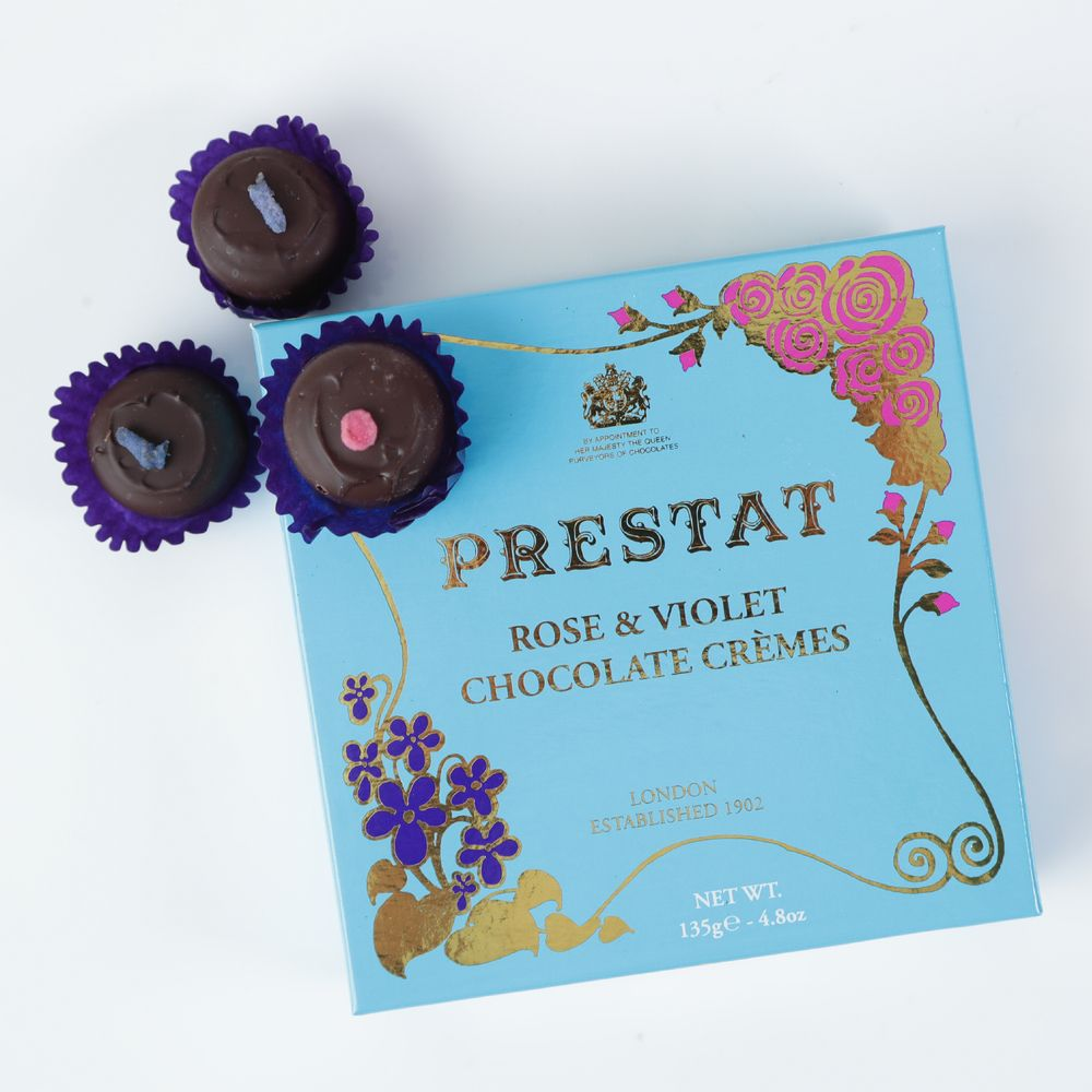 Prestat Rose & Violet Chocolate Cremes