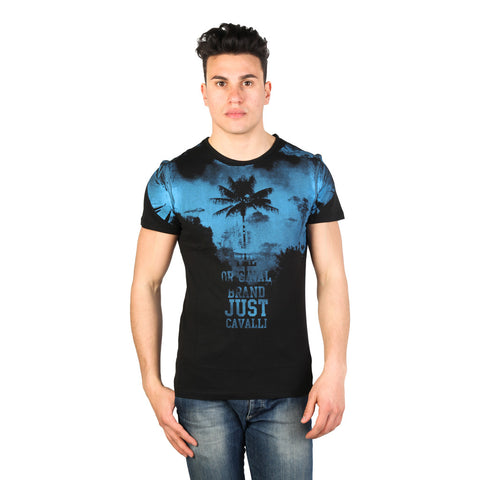 Just Cavalli Printed Tshirts - Black