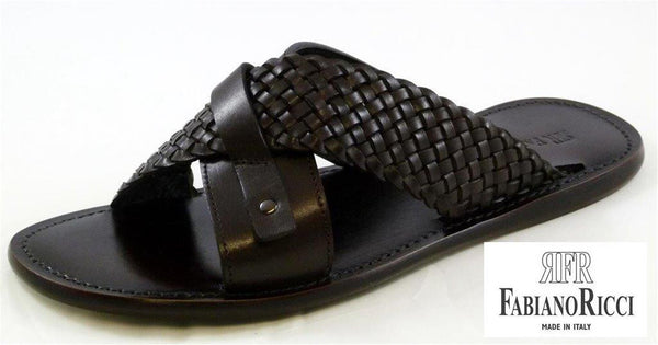 FABIANO RICCI - Woven open-toe Sandals - Black