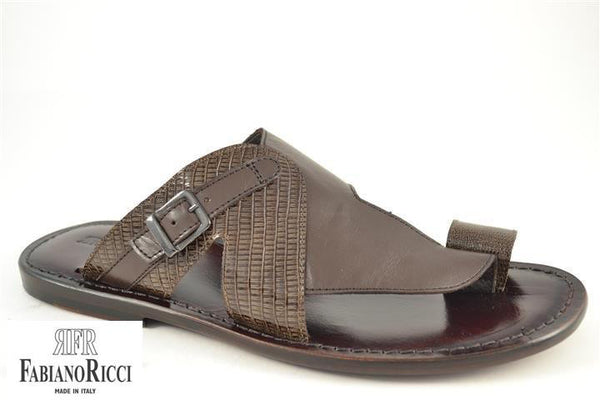 FABIANO RICCI - Strap detailing Sandals - Brown