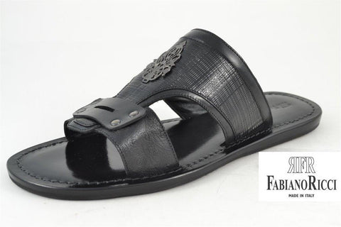 FABIANO RICCI - Metal detailing Sandals- 3 - Black