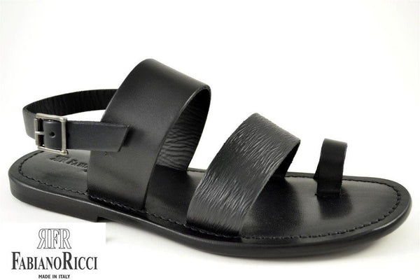 FABIANO RICCI - Strap/buckle detailing Sandals - Black