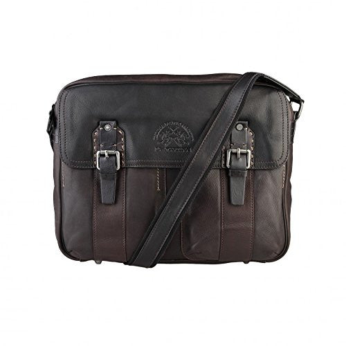 La Martina Messenger Bag, Brown - Ninostyle