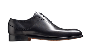 Barker Plymouth Whole Cut Oxford Shoe - Black Calf