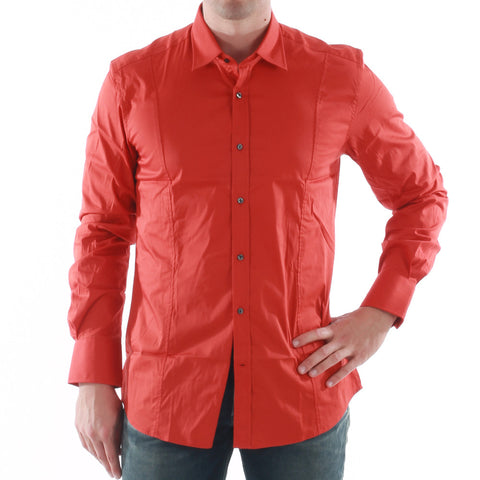 ANTONY MORATO Plain Long sleeved FITTED shirt - Orange