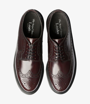 LOAKE 624- OXBLOOD POLISHED LEATHER SHOE - Top View