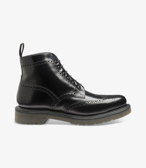 LOAKE 625- BLACK POLISHED LEATHER BOOT - Side View