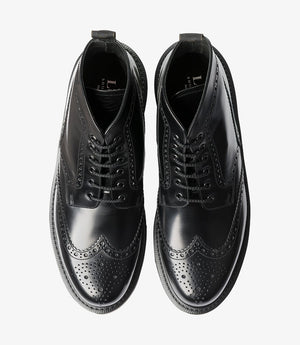 LOAKE 625- BLACK POLISHED LEATHER BOOT - Top View