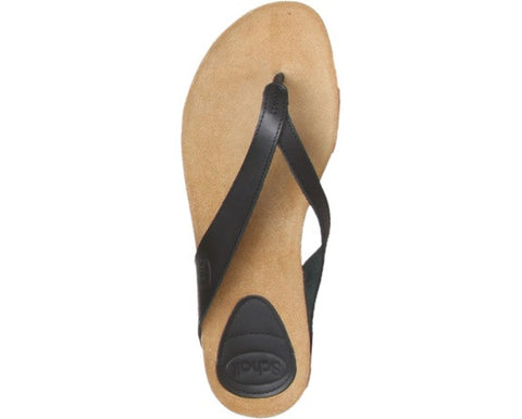 Dr Scholl - Tist- Ladies Thong Flip Flops - Black