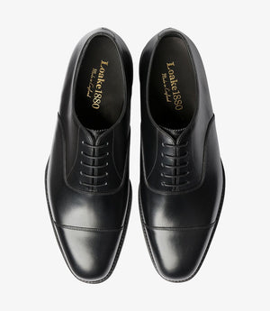 LOAKE Aldwych calf oxford shoe - Black - Top View