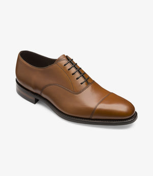 LOAKE Aldwych calf oxford shoe - Brown - Angle View