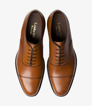 LOAKE Aldwych calf oxford shoe - Brown - Top View