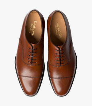 LOAKE Aldwych calf oxford shoe - Mahogany - Top View