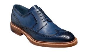 Barker Bailey Classic wing tip Derby - Navy Hand Painted