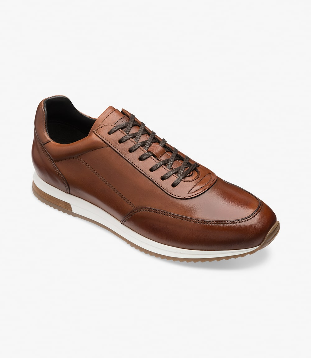 LOAKE  Bannister - Leather Sneakers - Cedar